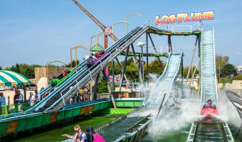 Photograph of the Log Flume, a ride a Southport Pleasureland.