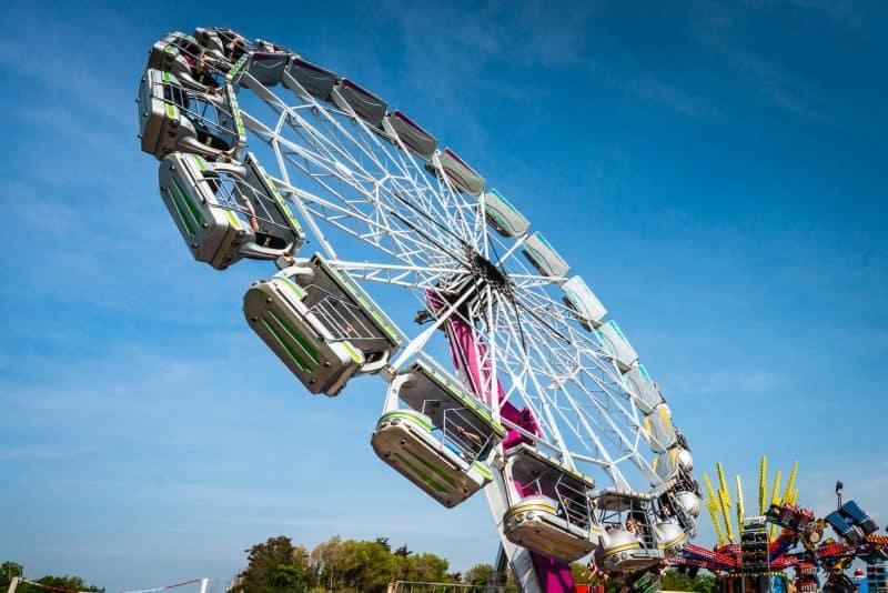 Photograph of the Enterprise, a ride at Southport Pleasureland theme park.