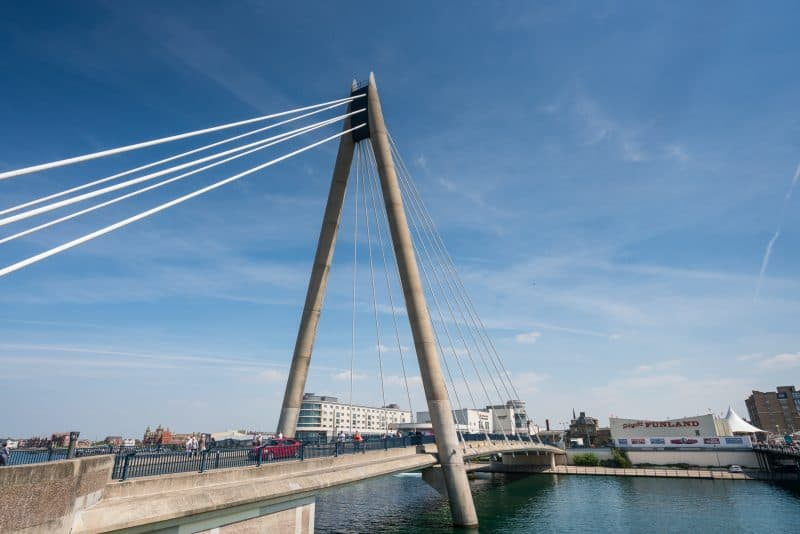 Photograph of Marine Way Bridge, Southport, Merseyside.