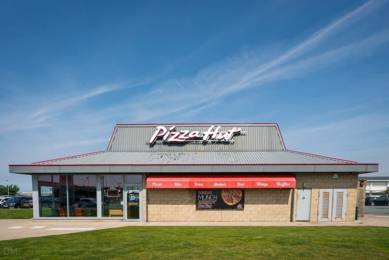 Photograph of Pizza Hut restaurant at Ocean Plaza, Southport, Merseyside.