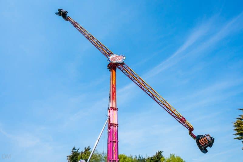 Photograph of the Vertigo ride at Southport Pleasureland.