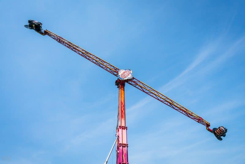 Photograph of Vertigo, one of the rides at Southport Pleasureland theme park in Southport, Merseyside.