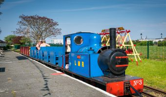 Photograph of Pleasureland Station, Lakeside Miniature Railway, Southport, Merseyside.