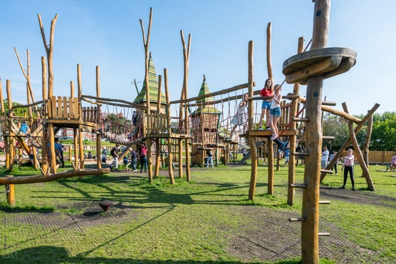 Photo of Tree Top Towers adventure playground at King's Gardens, Southport.