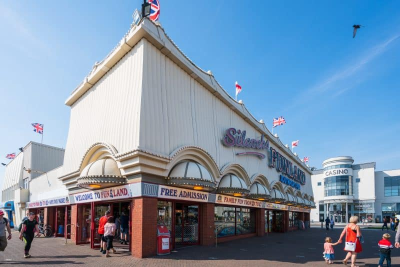 Photo of Silcock's Funland at Southport Pier, Southport, Merseyside.