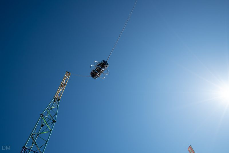 Photograph of the Skyscreamer ride at South Pier Blackpool.