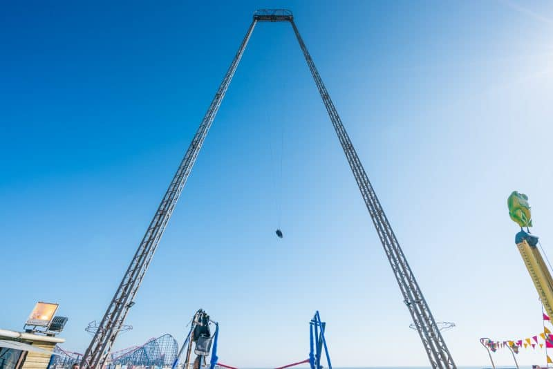 Photograph of Skycoaster ride at South Pier Blackpool.