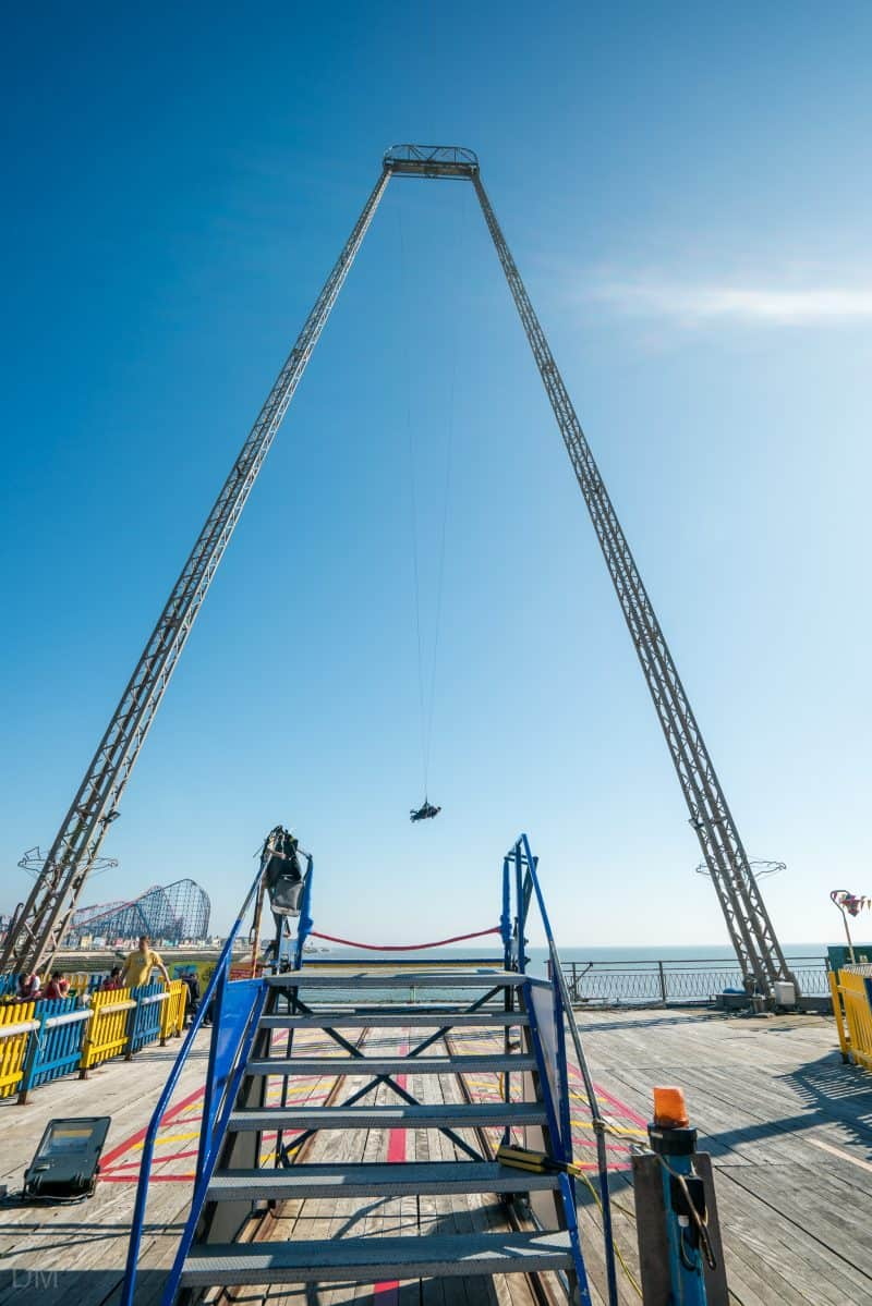 Photo of the Skycoaster, South Pier Blackpool.