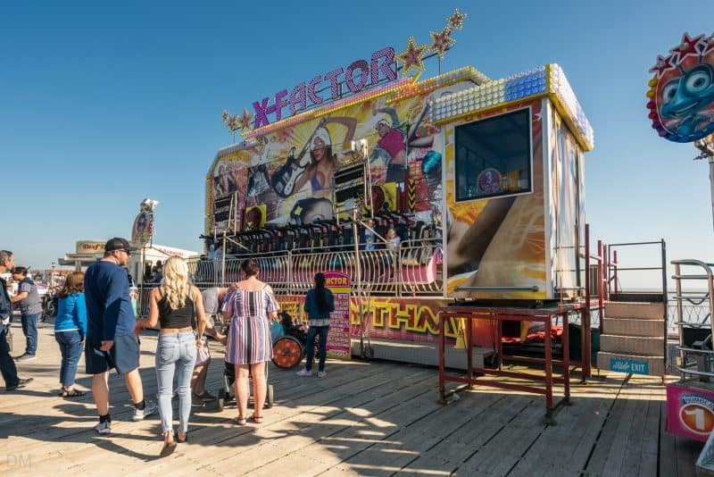 Photograph of X-Factor ride at South Pier Blackpool.