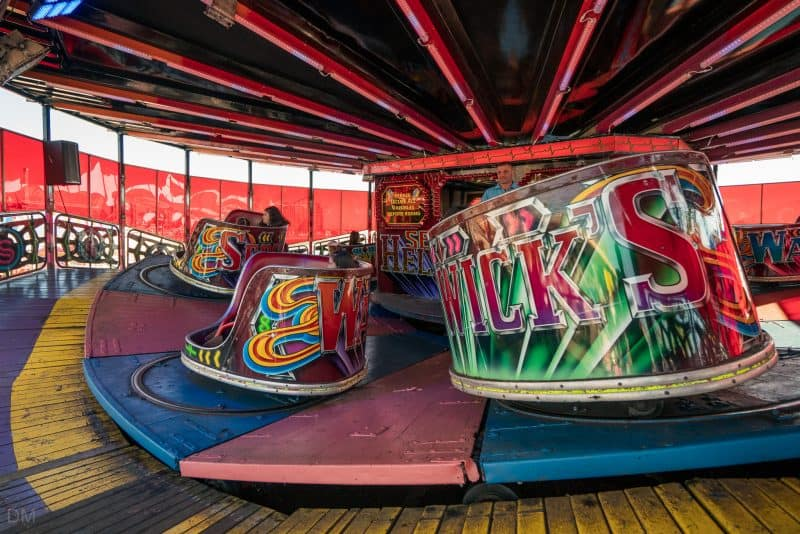 Photograph of the Waltzer at South Pier Blackpool.