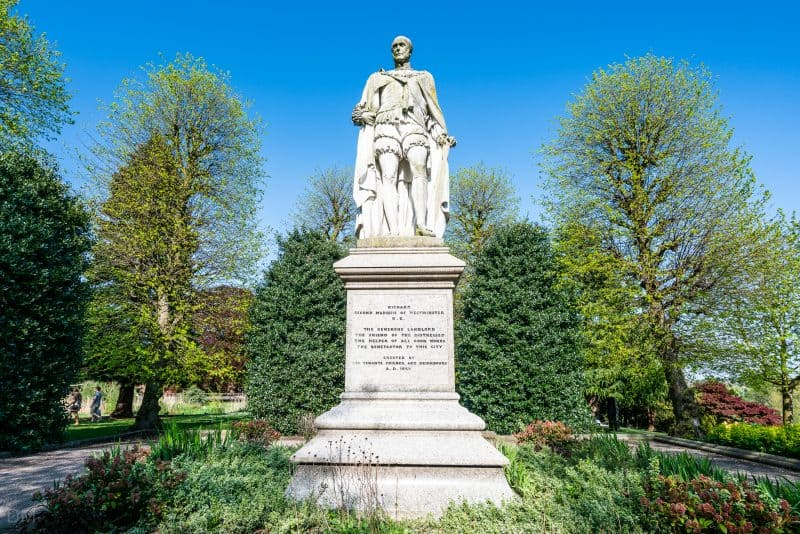 Statue of the Marquess of Westminister at Grosvenor Park, Chester